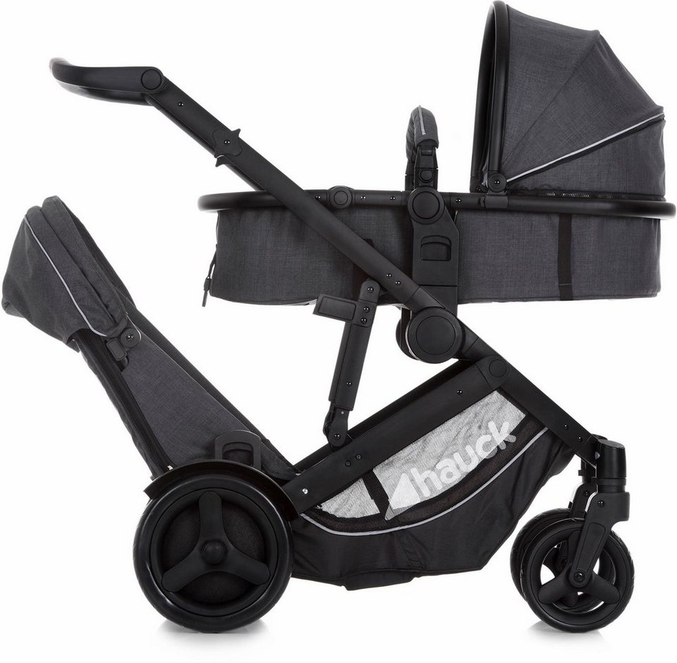 hauck fun for kids geschwisterwagen mit regenhaube duett 3 melange charcoal online kaufen otto. Black Bedroom Furniture Sets. Home Design Ideas