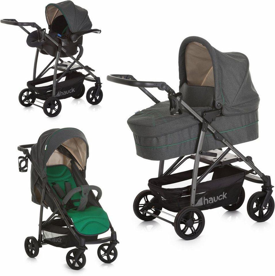 hauck fun for kids set kombi kinderwagen inkl babyschale rapid 4s plus trio set caviar. Black Bedroom Furniture Sets. Home Design Ideas