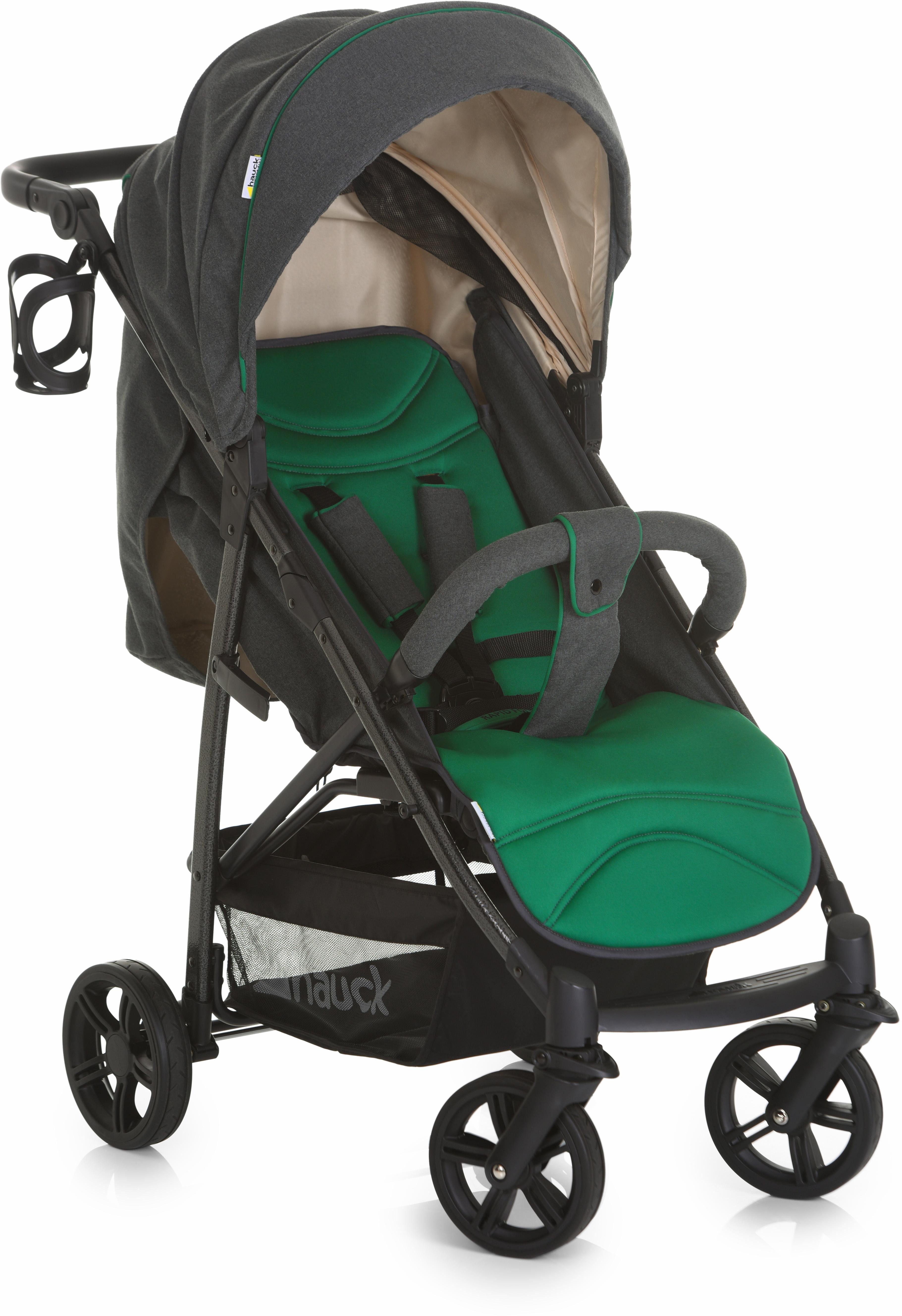hauck FUN FOR KIDS Kinderwagen, »Rapid 4S Caviar/Emerald«