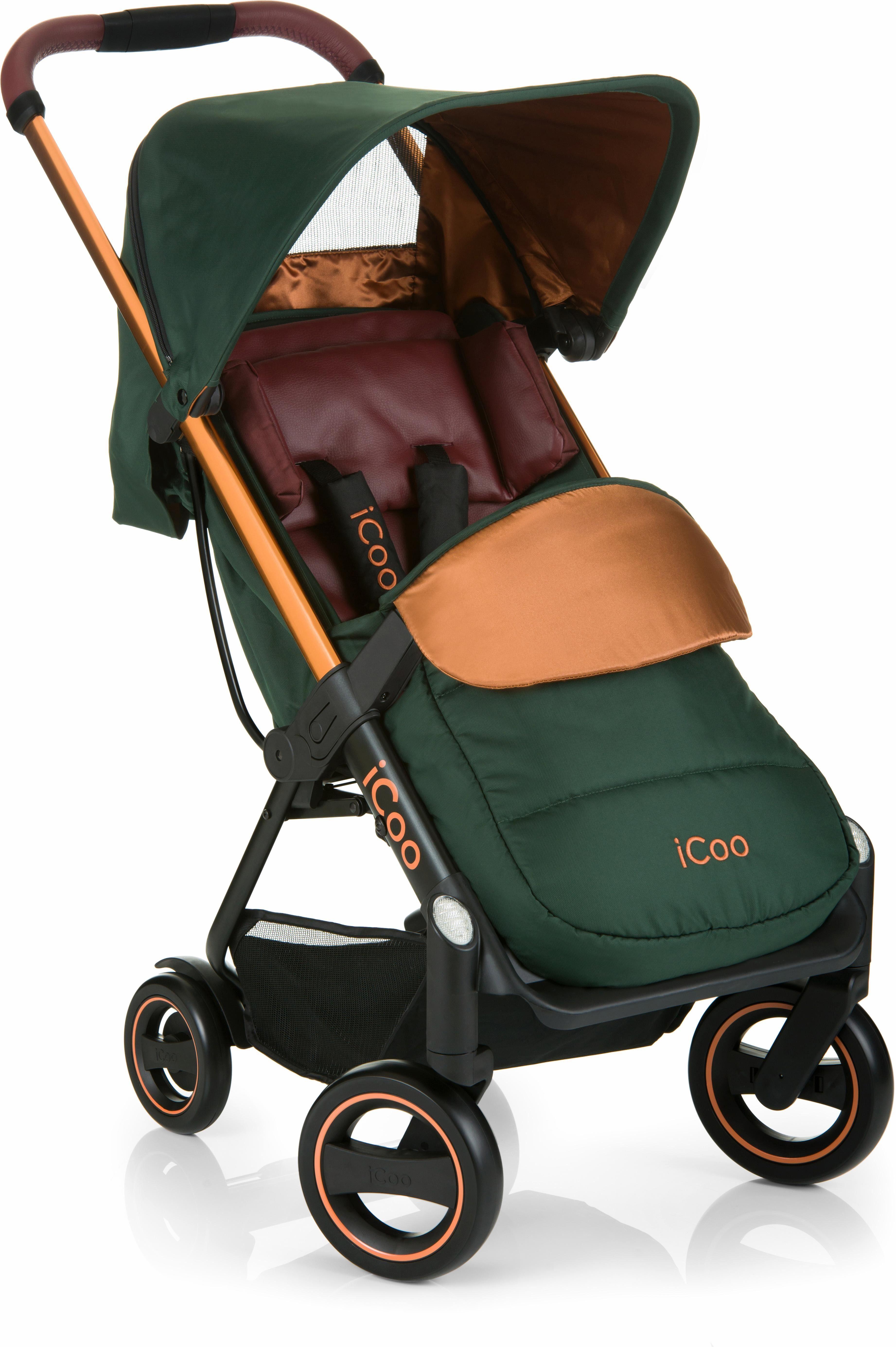 iCoo Buggy inklusive Autositz 0+ (ab Geburt), »Acrobat Shop'n Drive Copper Green«