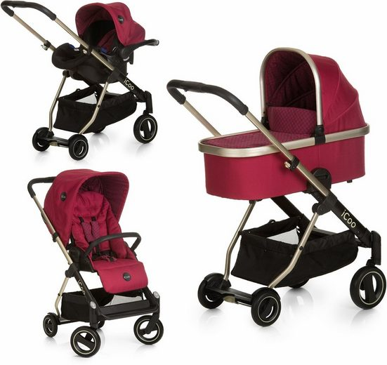 iCoo Kombi-Kinderwagen »Acrobat XL Plus Trio Set Diamond Ruby«