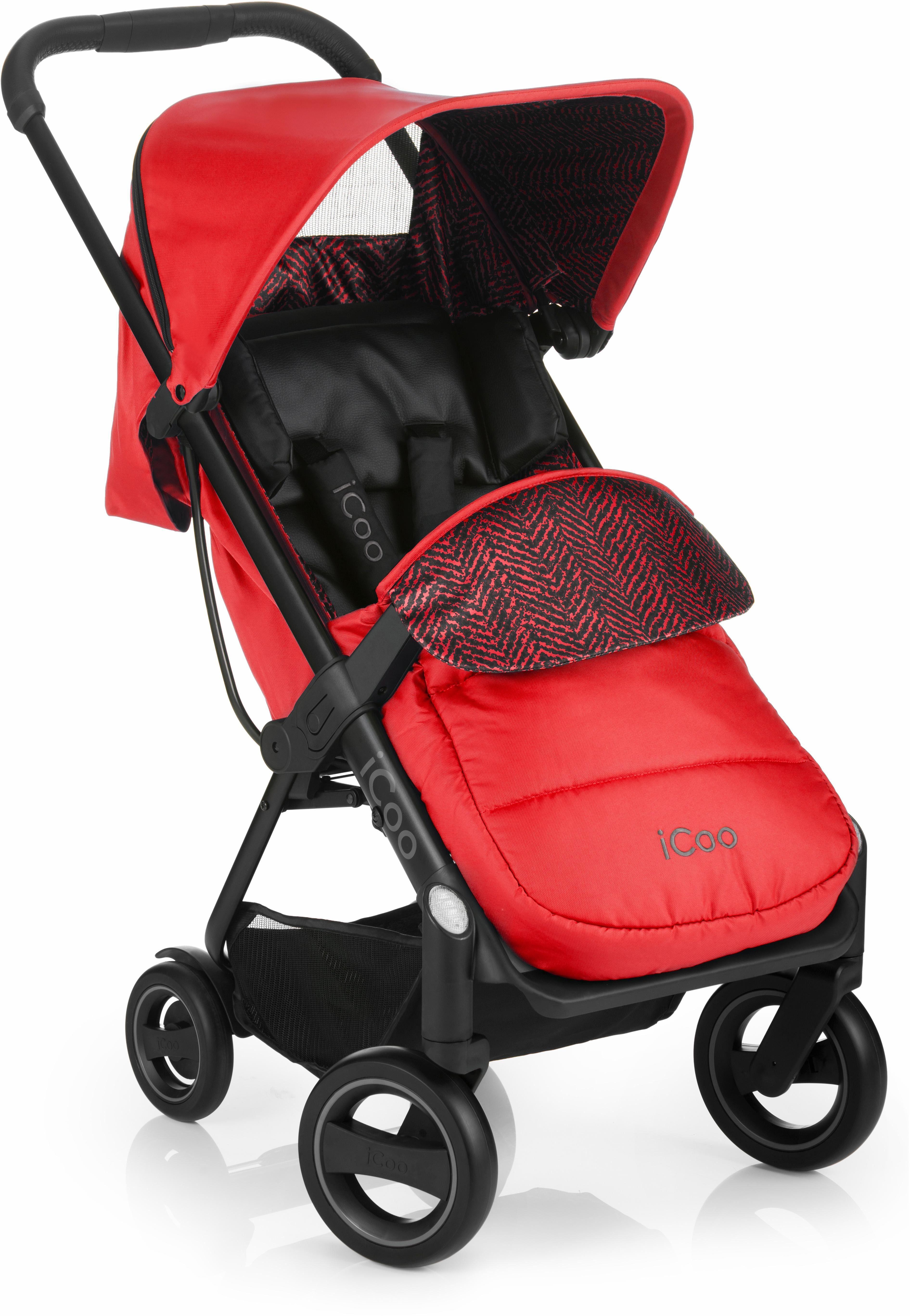 iCoo Buggy mit leichtem und stylischem Aluminiumgestell, »Acrobat Fishbone Red«