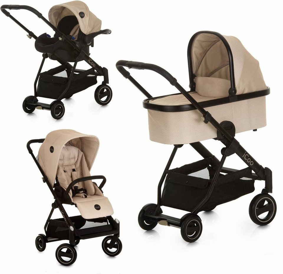 icoo kombi kinderwagen acrobat xl plus trio set sahara. Black Bedroom Furniture Sets. Home Design Ideas