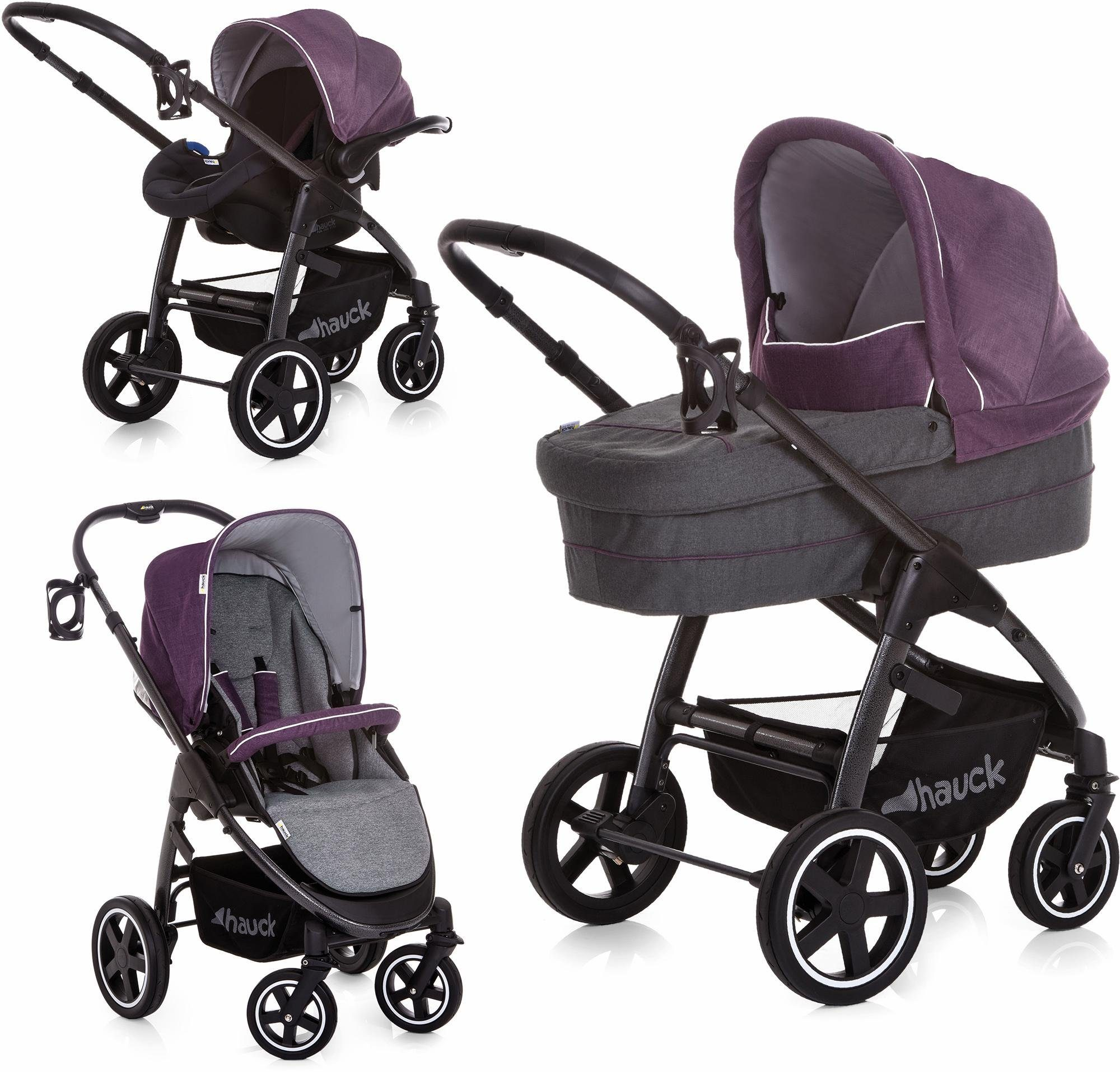 hauck FUN FOR KIDS Set: Kombi-Kinderwagen inkl. Babyschale, »Soul Plus Trio Set Berry«