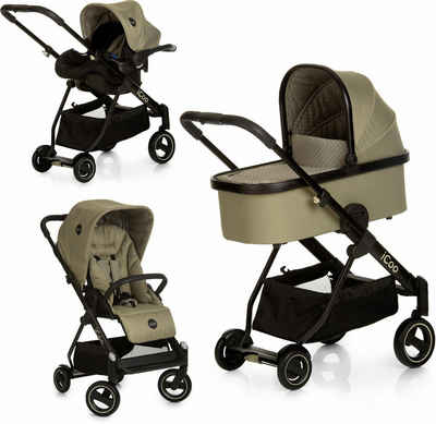 iCoo Kombi-Kinderwagen »Acrobat XL Plus Trio Set Diamond Olive«, ; Kinderwagen