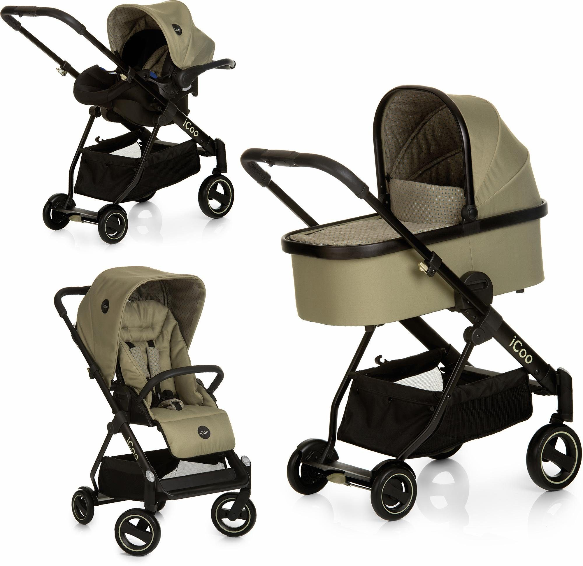 iCoo Kombi Kinderwagen, »Acrobat XL Plus Trio Set Diamond Olive«
