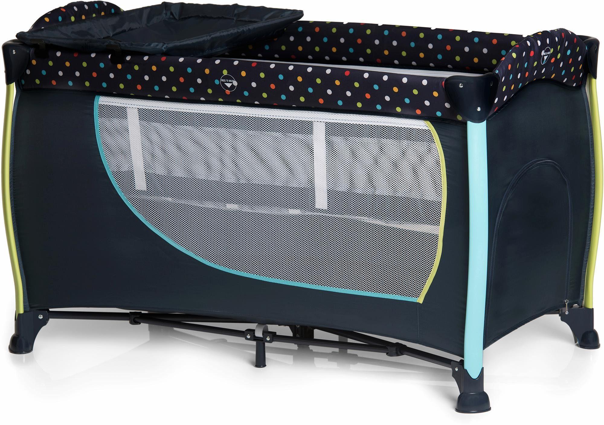 hauck FUN FOR KIDS Reisebett mit Tragetasche, »Sleep'n Play Center II Multi Dots Navy«