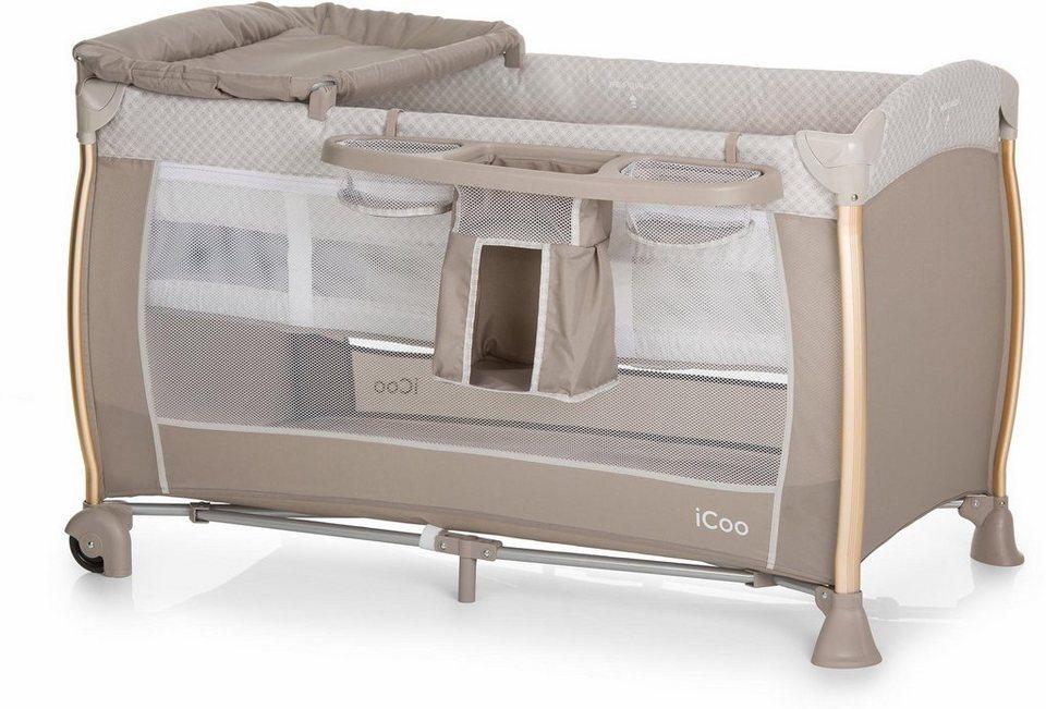 icoo reisebett mit tragetasche starlight diamond beige. Black Bedroom Furniture Sets. Home Design Ideas
