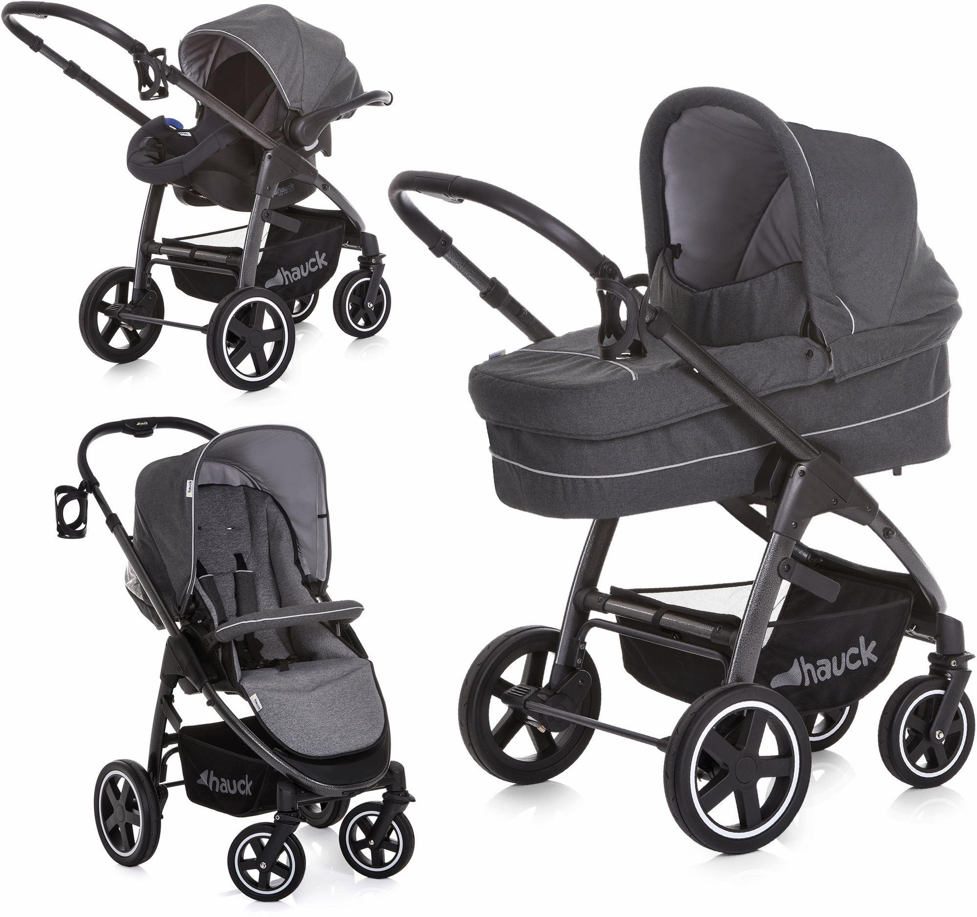 hauck FUN FOR KIDS Kombi-Kinderwagen inkl. Babyschale, »Soul Plus Trio Set Beluga«