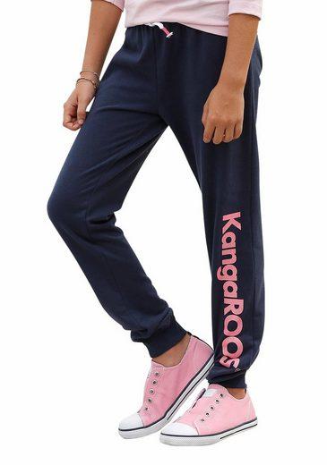 KangaROOS Sweathose mit Glitzerdruck am Bein