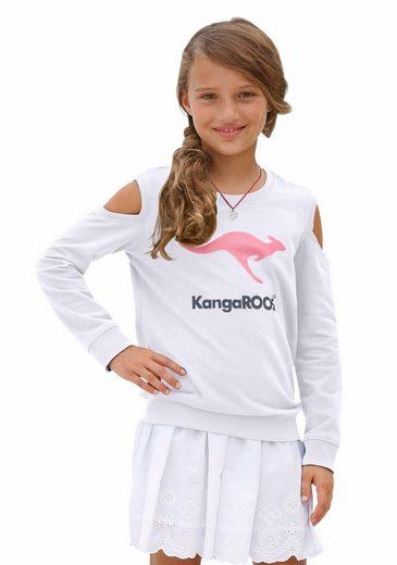 KangaROOS Sweatshirt mit modischen Cut Outs