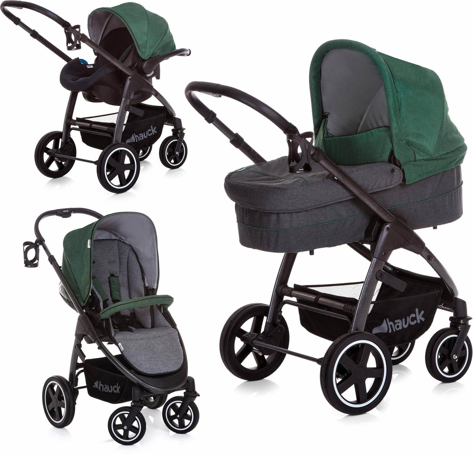 hauck FUN FOR KIDS Kombi-Kinderwagen inkl. Babyschale, »Soul Plus Trio Set Emerald«