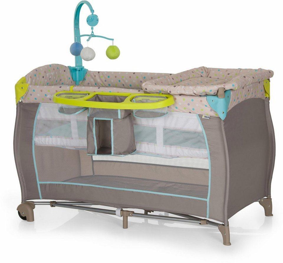 hauck fun for kids reisebett mit mobile und tragetasche babycenter multi dots sand online. Black Bedroom Furniture Sets. Home Design Ideas