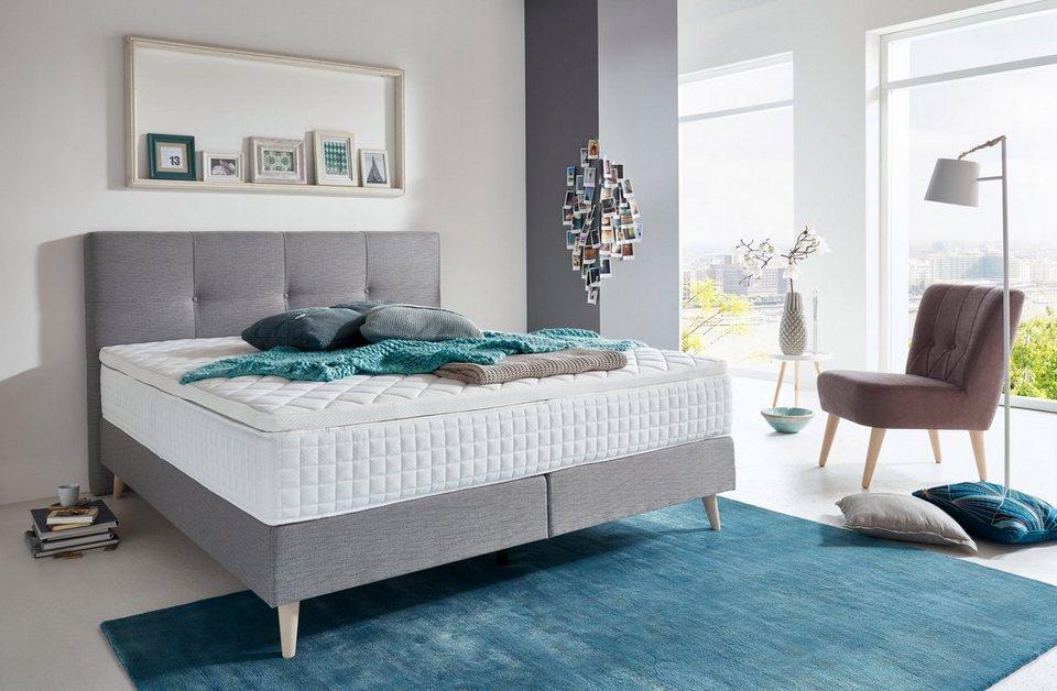 atlantic home collection boxspringbett mit topper in diversen ausf hrungen obermatratze. Black Bedroom Furniture Sets. Home Design Ideas