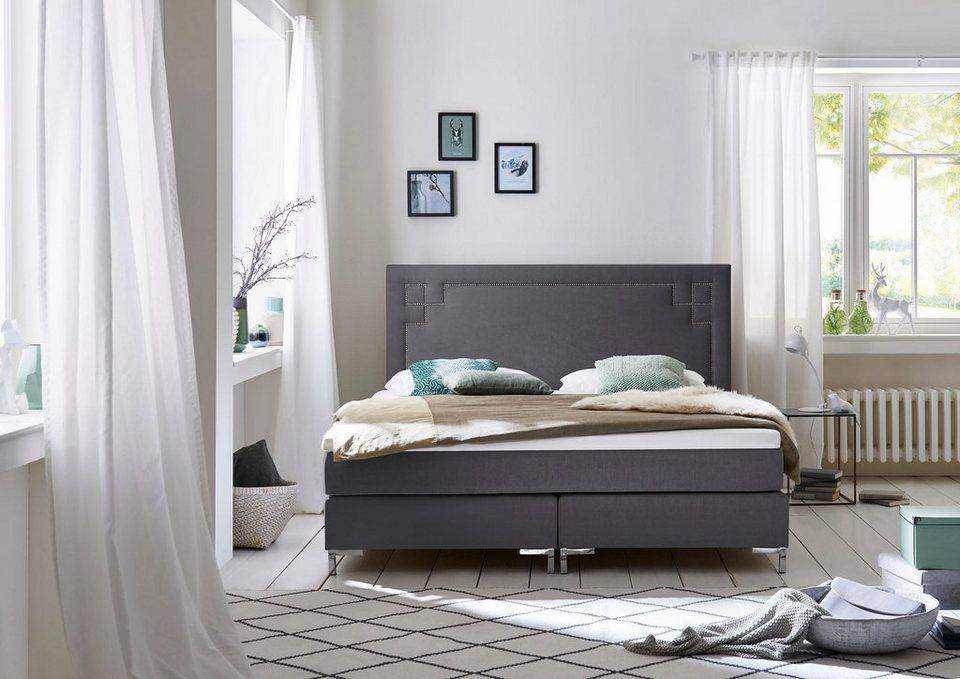atlantic home collection boxspringbett mit topper in diversen ausf hrungen inklusive kaltschaum. Black Bedroom Furniture Sets. Home Design Ideas