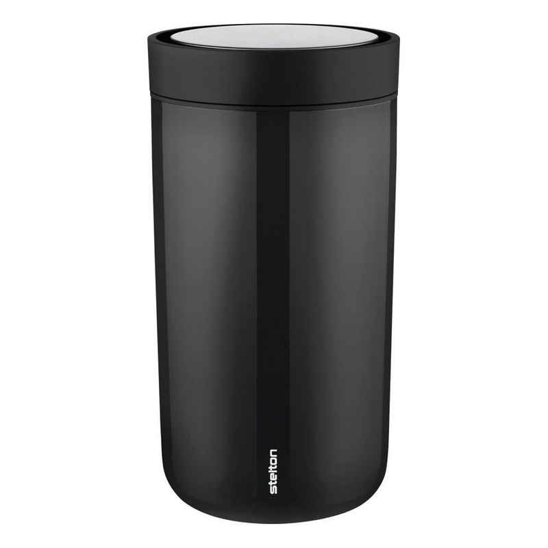 Stelton Coffee-to-go-Becher »To Go Click black 200 ml«, Stahl