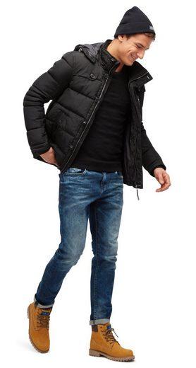 Tom Tailor Allwetterjacke Steppjacke mit abnehmbarer Kapuze