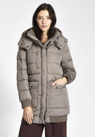 Khujo Quilted Jacket Lova With Teddy Fur In The Hood