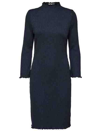 Selected Femme Ripp Kleid mit langen Ärmeln