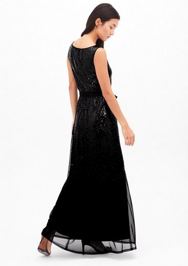 s.Oliver BLACK LABEL Zartes Abendkleid mit Pailletten