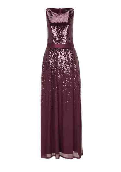 s.Oliver BLACK LABEL Zartes Abendkleid mit Pailletten
