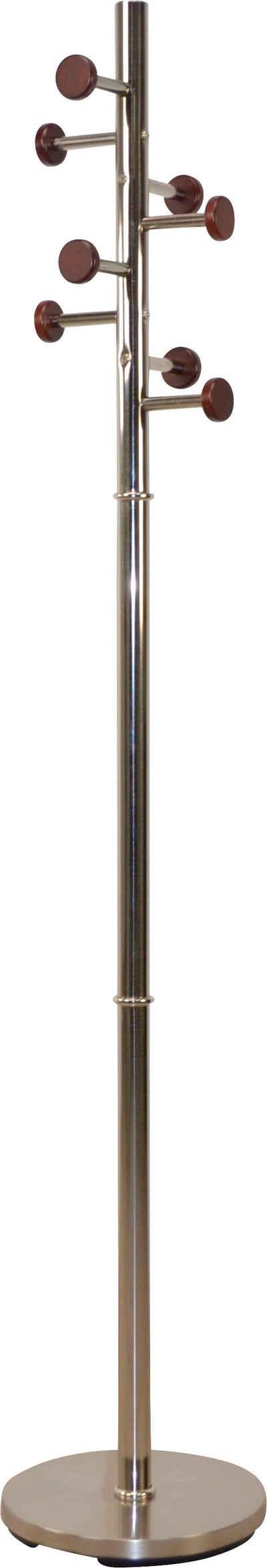 Garderobenständer, aus Metall, Höhe 172 cm, 8 Haken