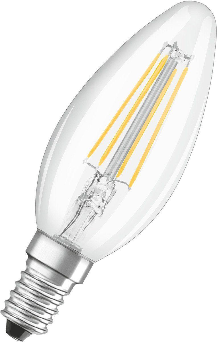 Osram Leuchtmittel »LED BASE FILAMENT klar CLB40 4W/827 470LM E14 M2«