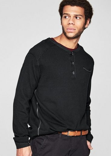 S.oliver Red Label Henley-pullover In Pigment Dye