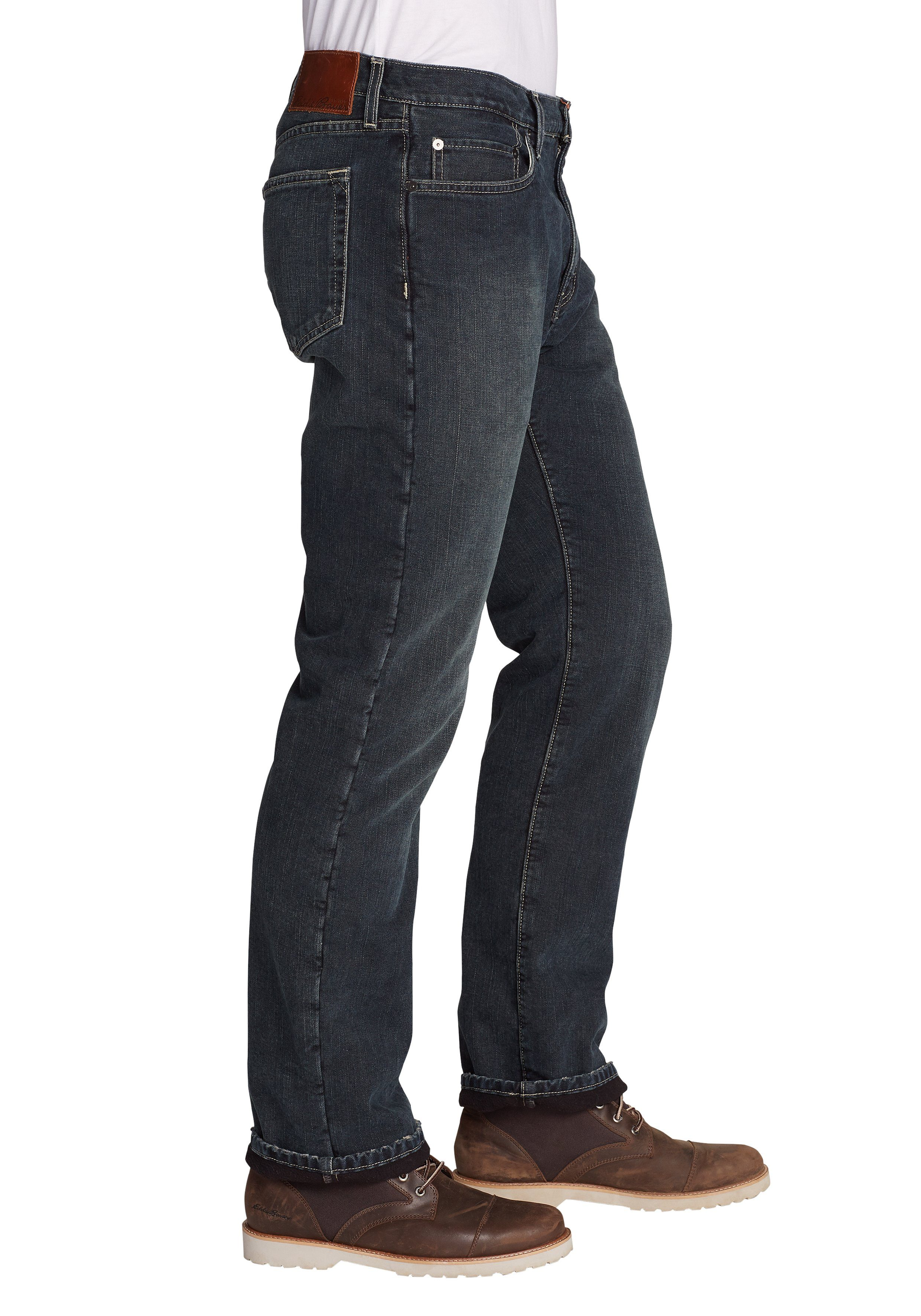 Eddie Bauer 5-Pocket-Jeans Authentic Jeans mit Flanellfutter - Straight Fit
