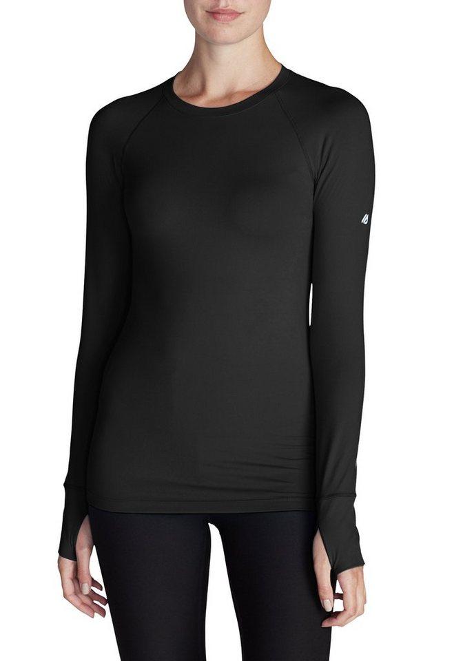 Damen Eddie Bauer Motion Langarmshirt Resolution IR mit Rundhalsausschnitt schwarz | 04057682194530