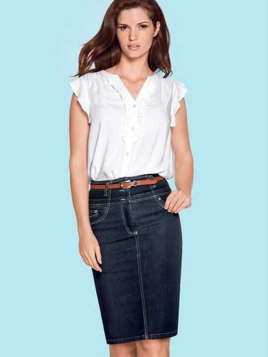 ASHLEY BROOKE by Heine Bodyform-Jeansrock mit Bauch-weg-Funktion