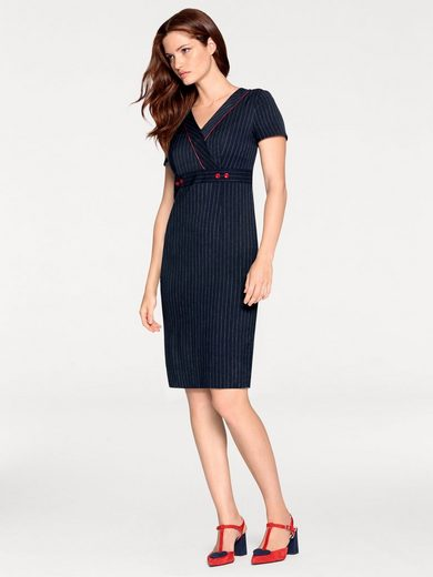 Ashley Brooke By Heine Bodyform-shift Dress With Pinstripes