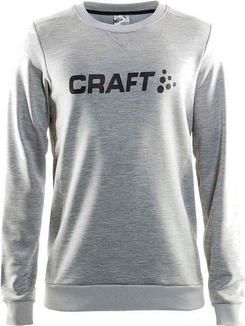 Herren Craft Sweatshirt Precise Sweatshirt Men grau | 07318572374621
