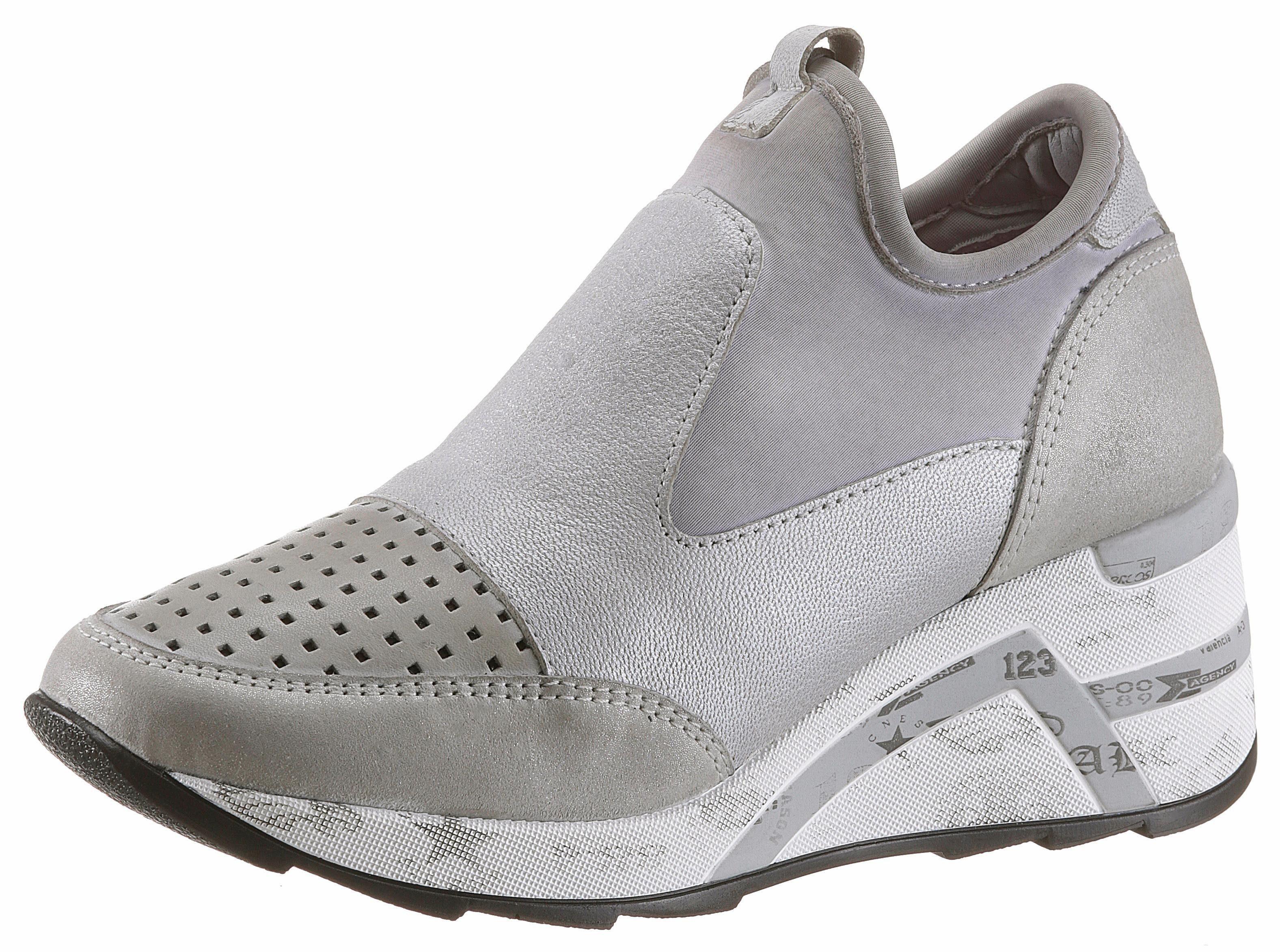 Cetti Slip-On Sneaker, in dezent schimmernder Optik online kaufen  grau-silberfarben