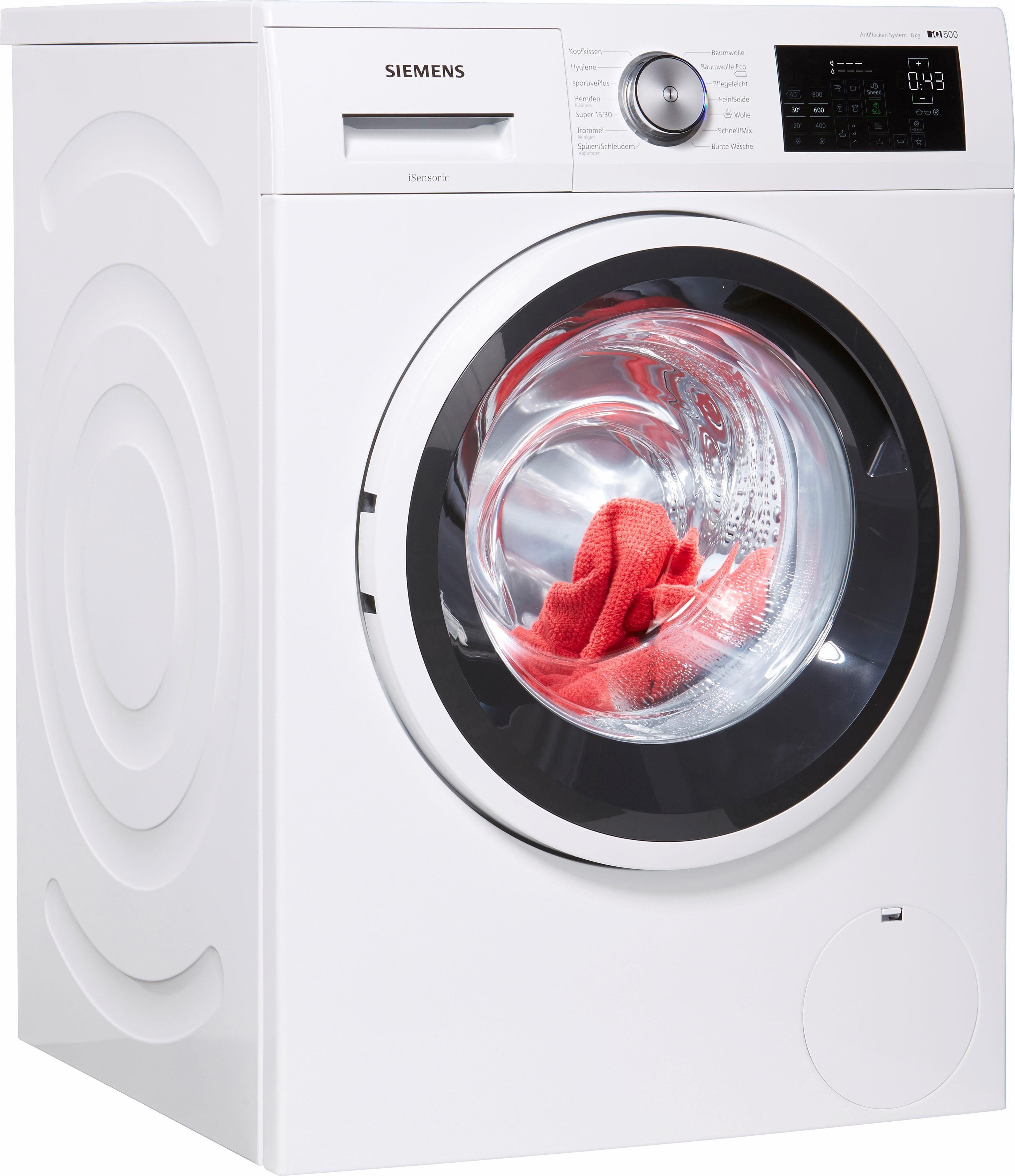 SIEMENS Waschmaschine iQ500 WM14T5ECO, 8 kg, 1400 U/Min