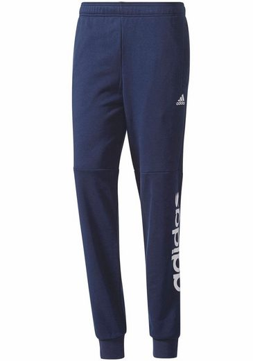 adidas Performance Jogginghose ESSENTIALS LINEAR TAPERED PANT FRENCH TERRY, mit Logoschriftzug am Hosenbein