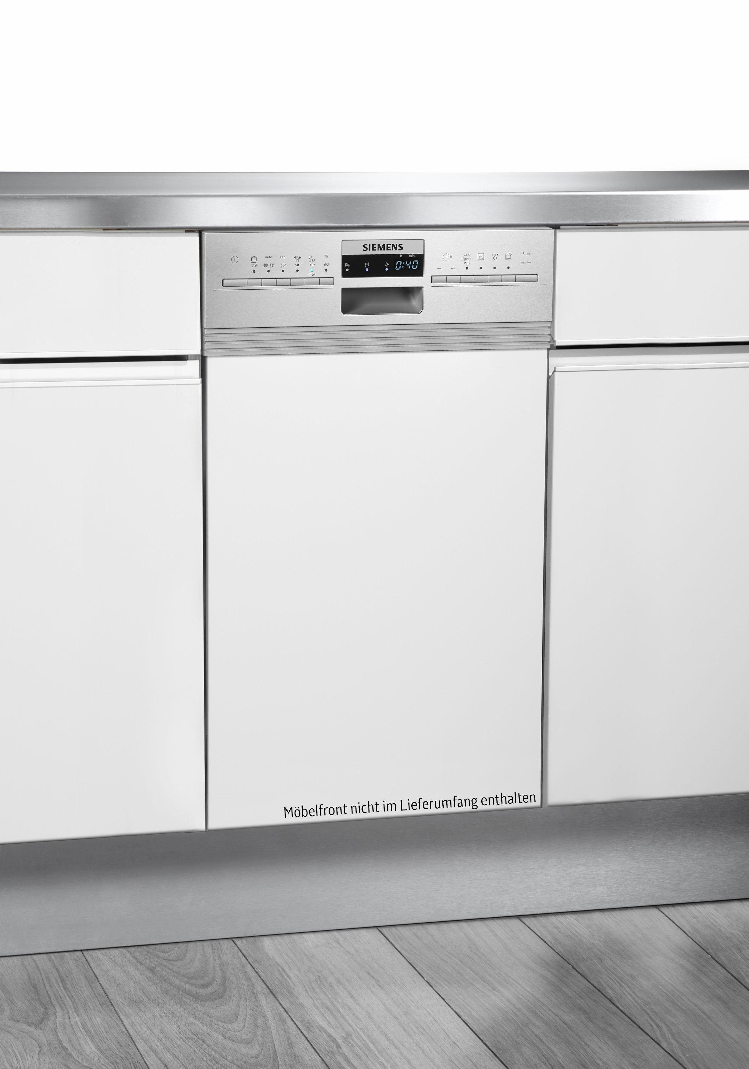 SIEMENS teilintegrierbarer Geschirrspüler, SR536S01ME, 9,5 l, 10 Maßgedecke, 45 cm breit