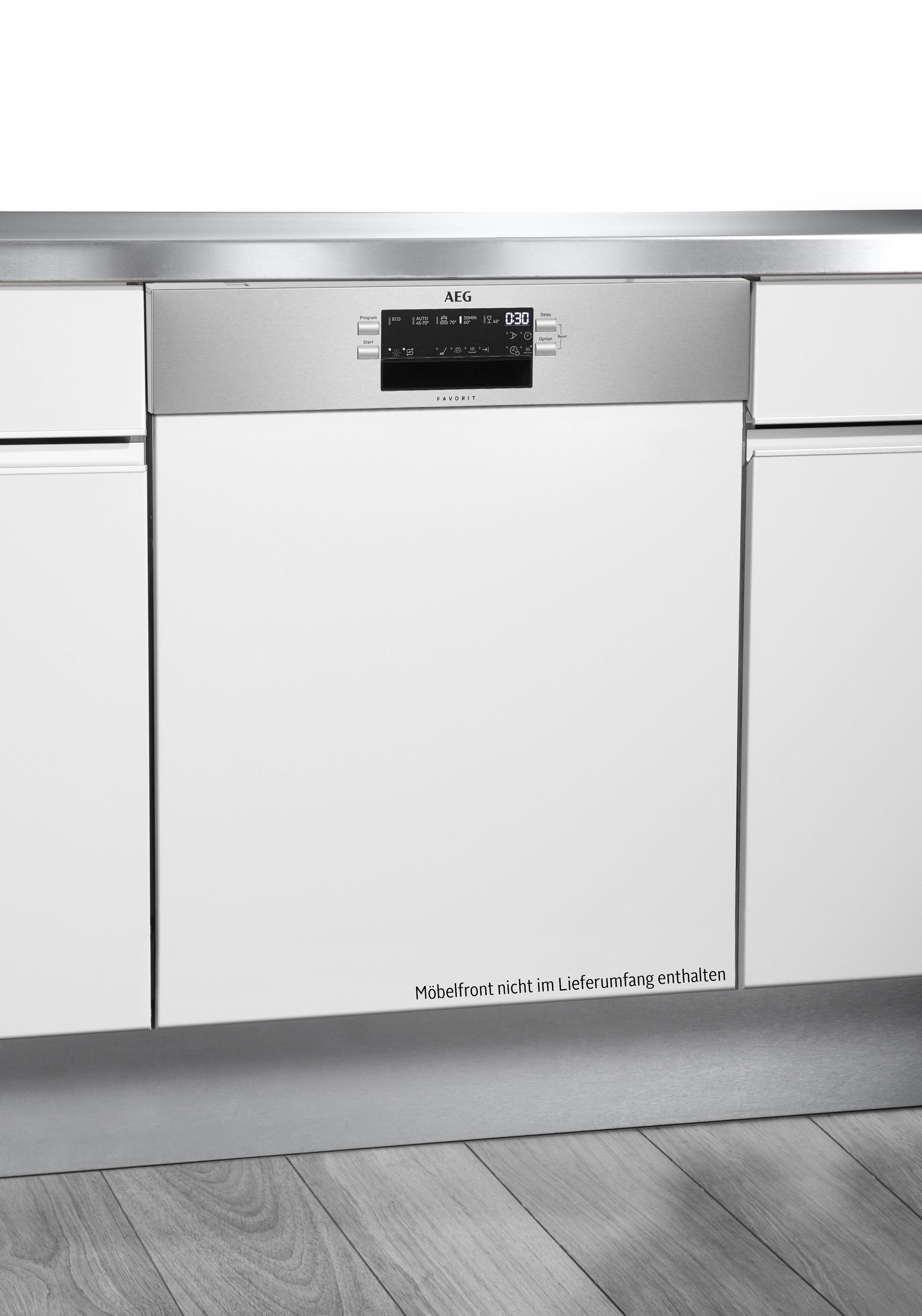 AEG Teilintegrierbarer Geschirrspüler FES5260AZM, A++, 9,9 Liter, 13 Maßgedecke