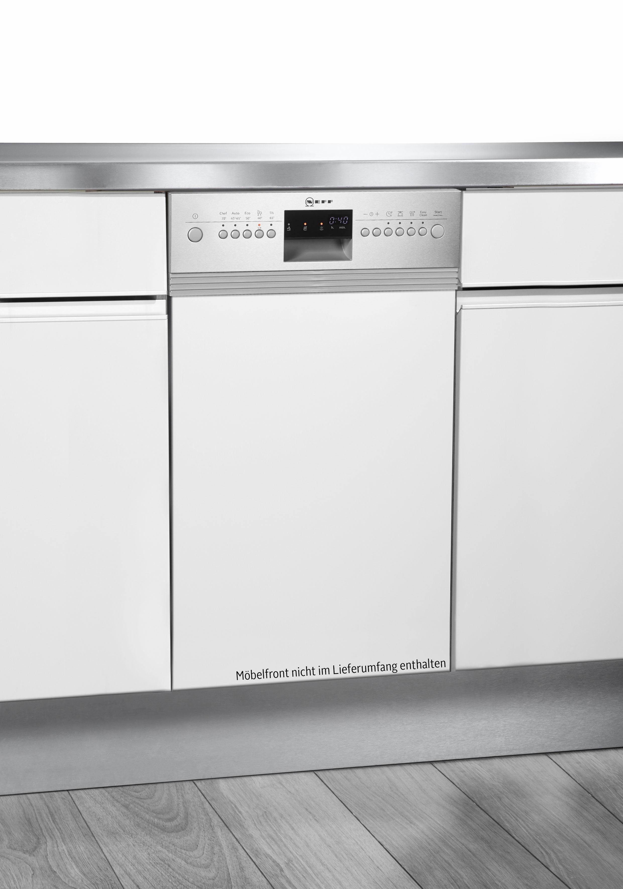 NEFF teilintegrierbarer Geschirrspüler, S483C50S2E, 0,85 l, 9 Maßgedecke, 45 cm breit