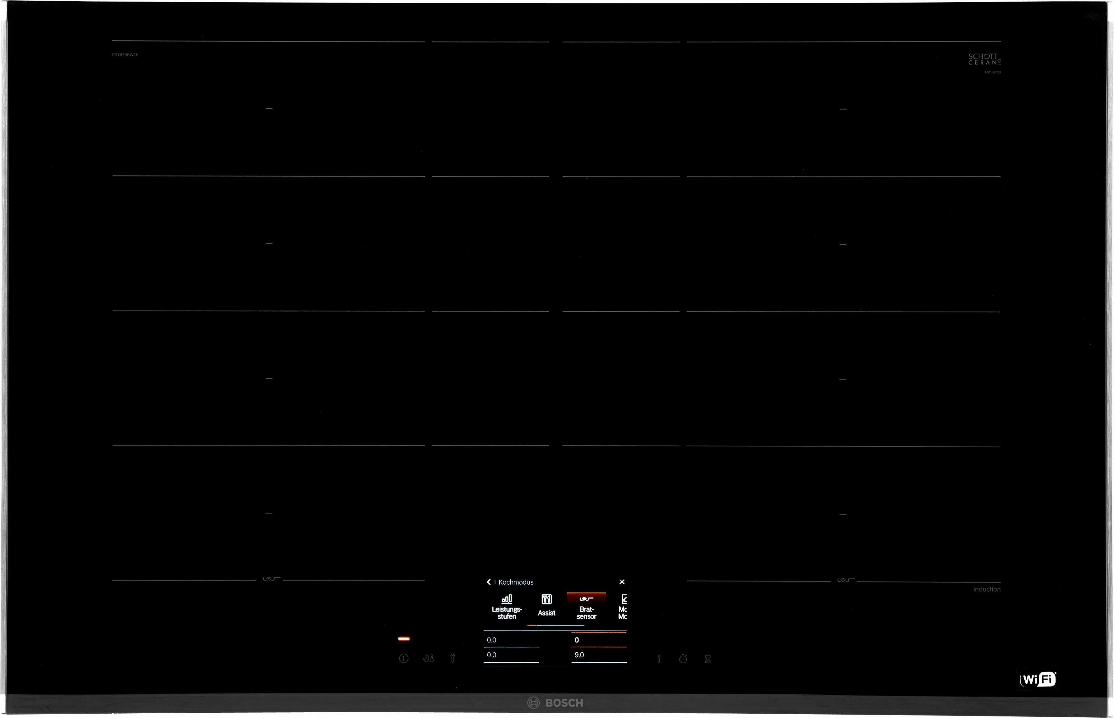 BOSCH Flex-Induktions-Kochfeld PXY875KW1E, mit PerfectFry-Bratsensor
