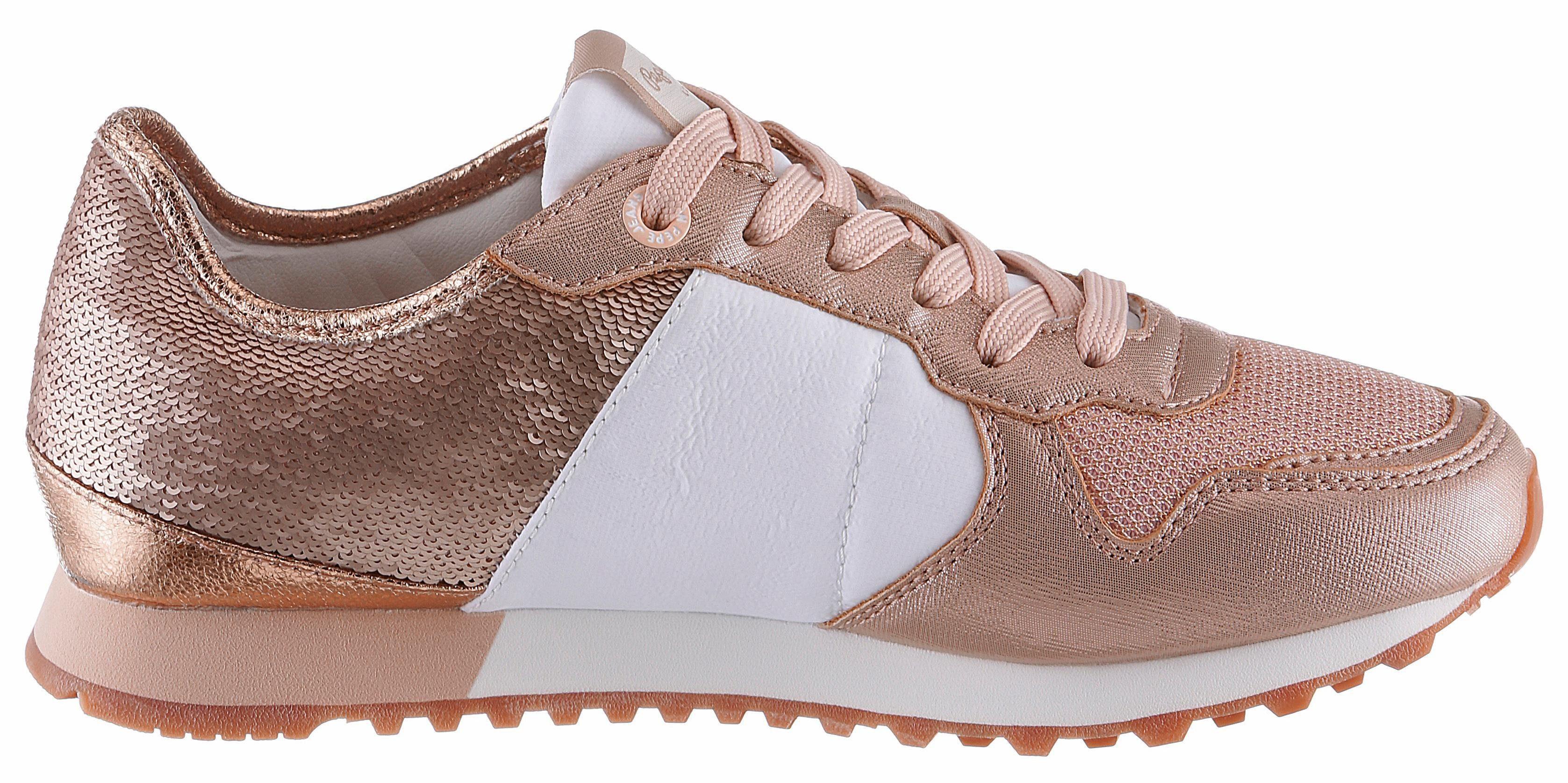 Pepe Jeans VERONA W SEQUINS Sneaker, mit schimmernden Pailletten online kaufen  roségoldfarben-weiß