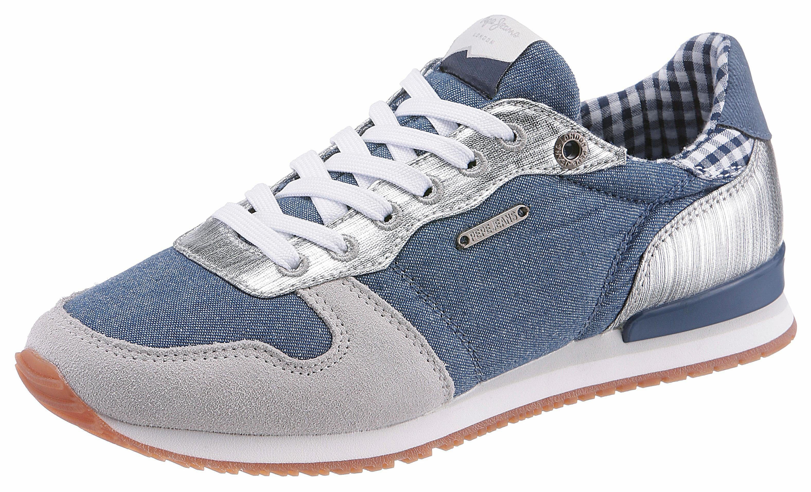 Pepe Jeans »Verona Flash« Sneaker, mit modischen Nieten, blau, 37 37