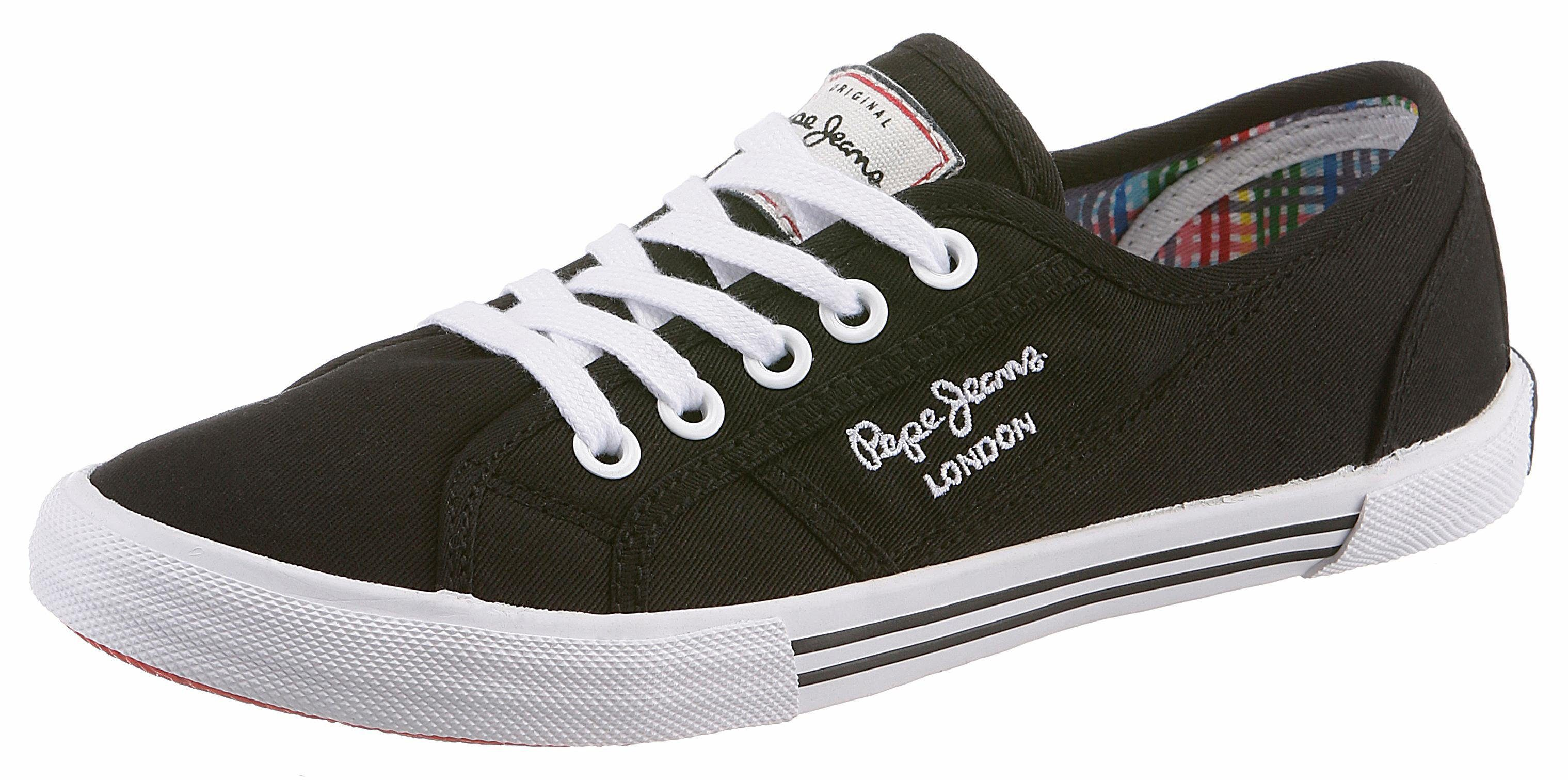 Pepe Jeans »ABERLADY BASIC« Sneaker, im Basic-Look, schwarz, 36 36