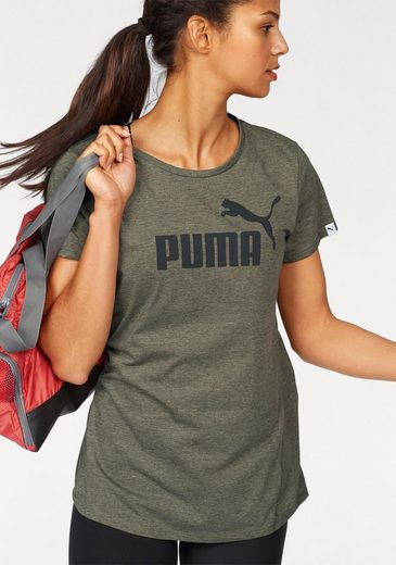 PUMA T-Shirt ESSENTIAL LARGE LOGO HEATHER TEE W