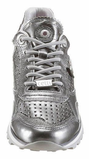 Cetti Slip-On Sneaker, im trendigen Metallic-Look