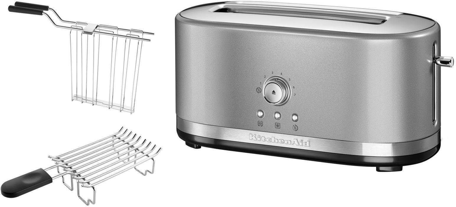 KitchenAid manueller Langschlitztoaster 5KMT4116ECU, contur-silber
