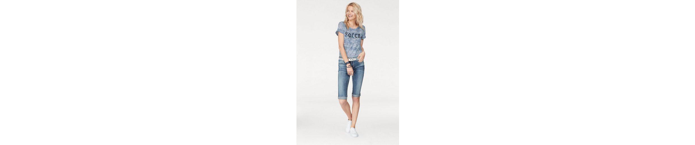 SOCCX T-Shirt Mykonos, mit Paillettendetails