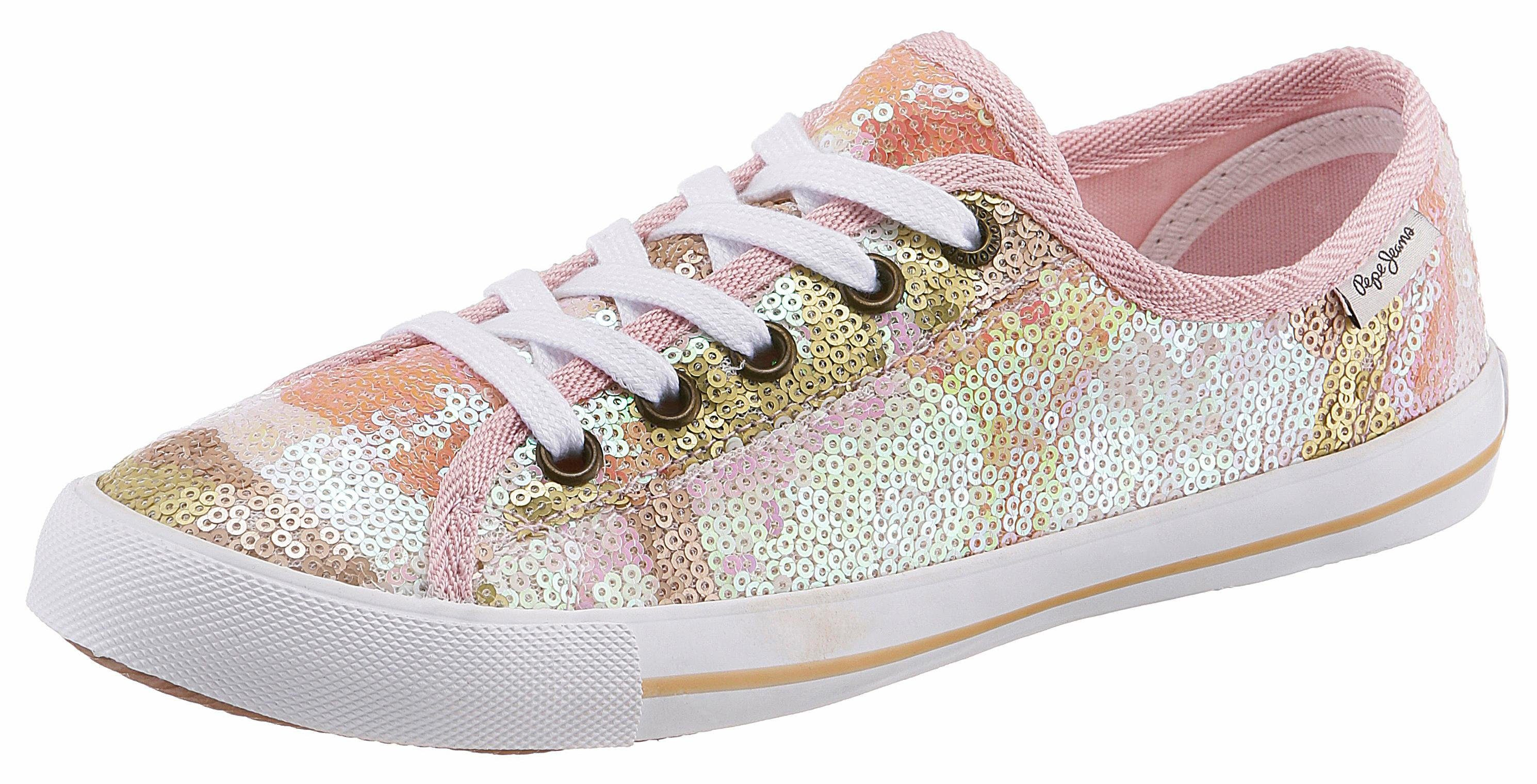 Pepe Jeans Gable Top Sneakers, goldfarben, gold