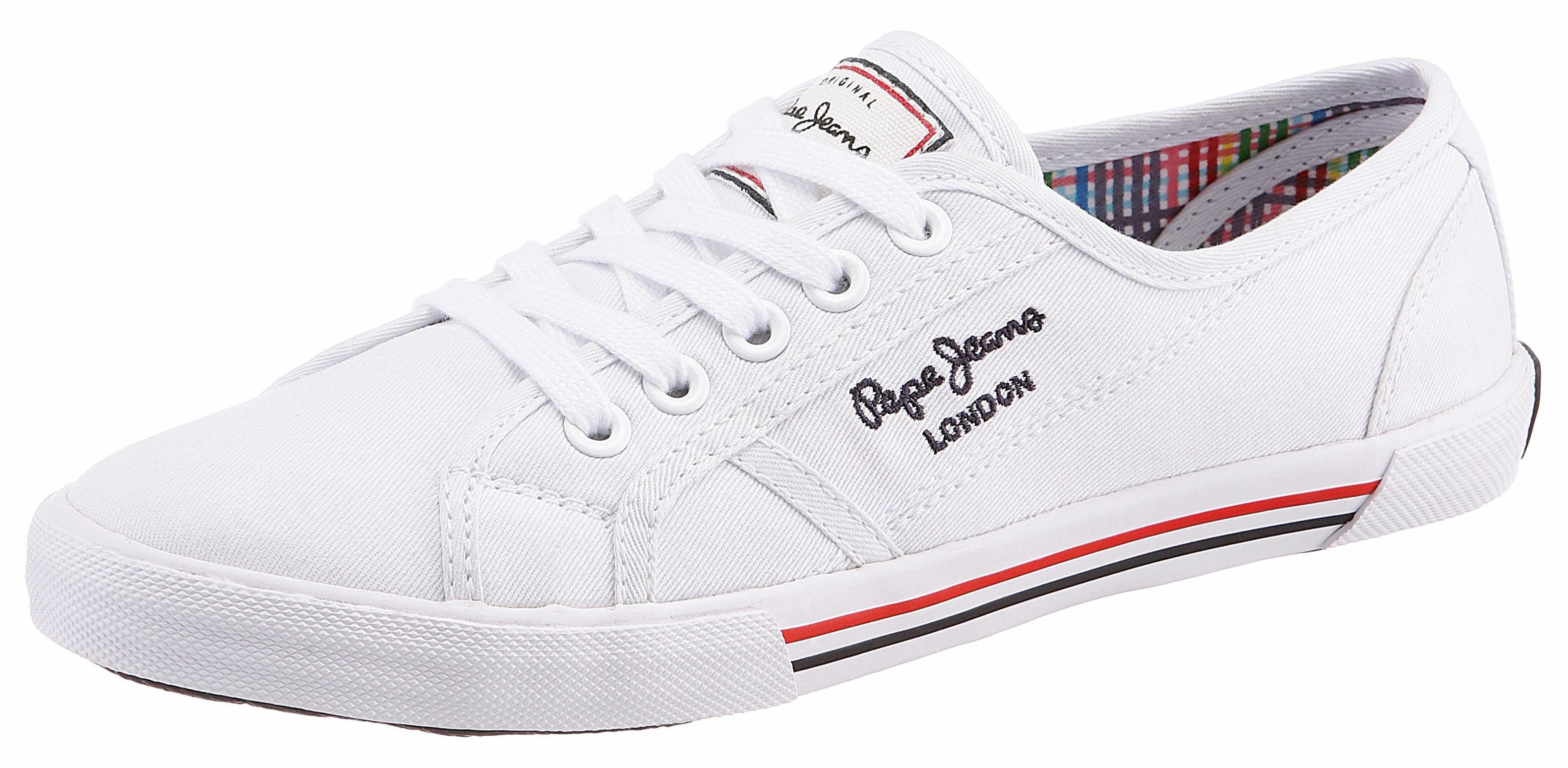 Pepe Jeans »ABERLADY BASIC« Sneaker, im Basic-Look, weiß, weiß