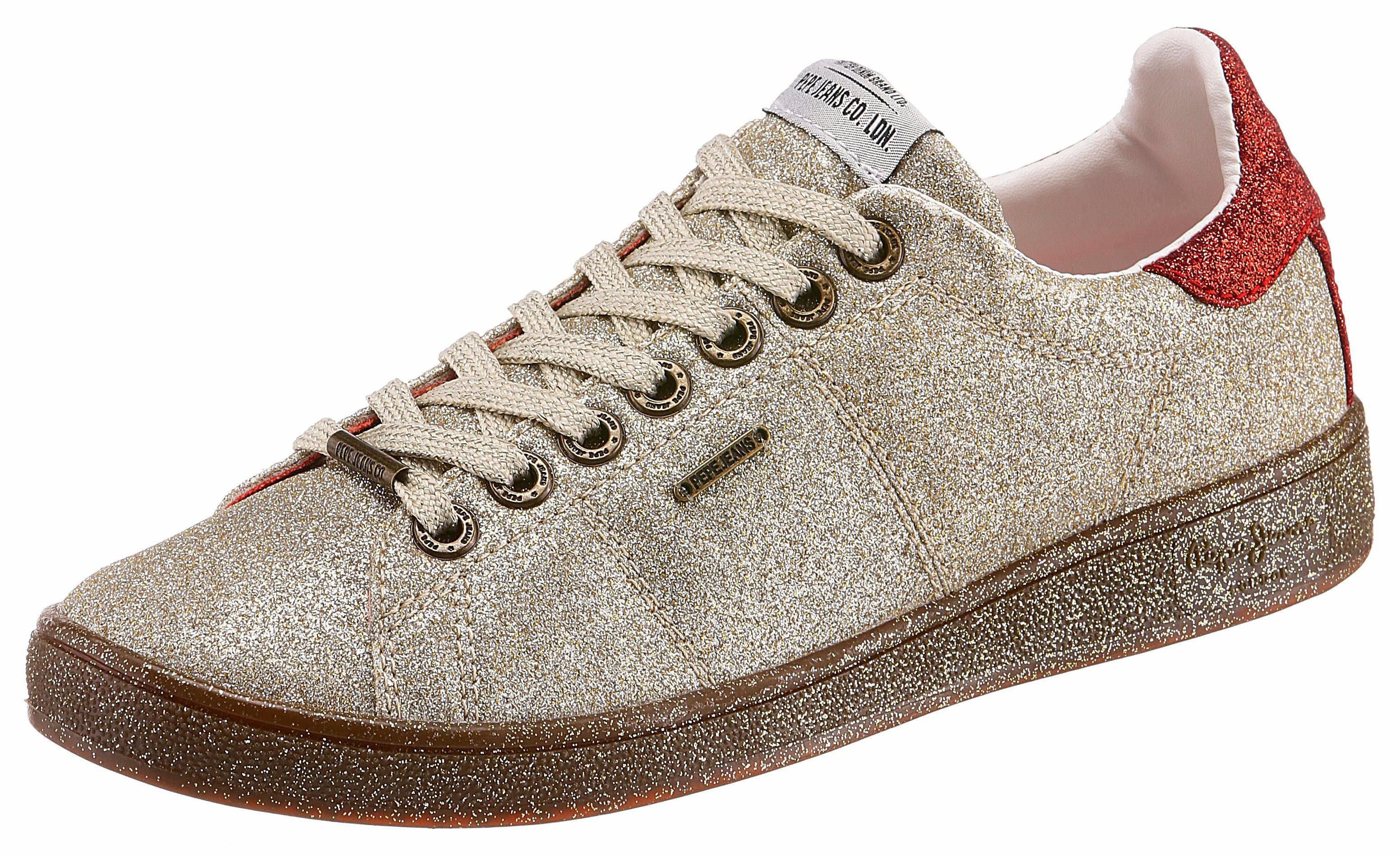 Pepe Jeans BROMPTON PART Sneaker, in Glitzeroptik online kaufen  goldfarben